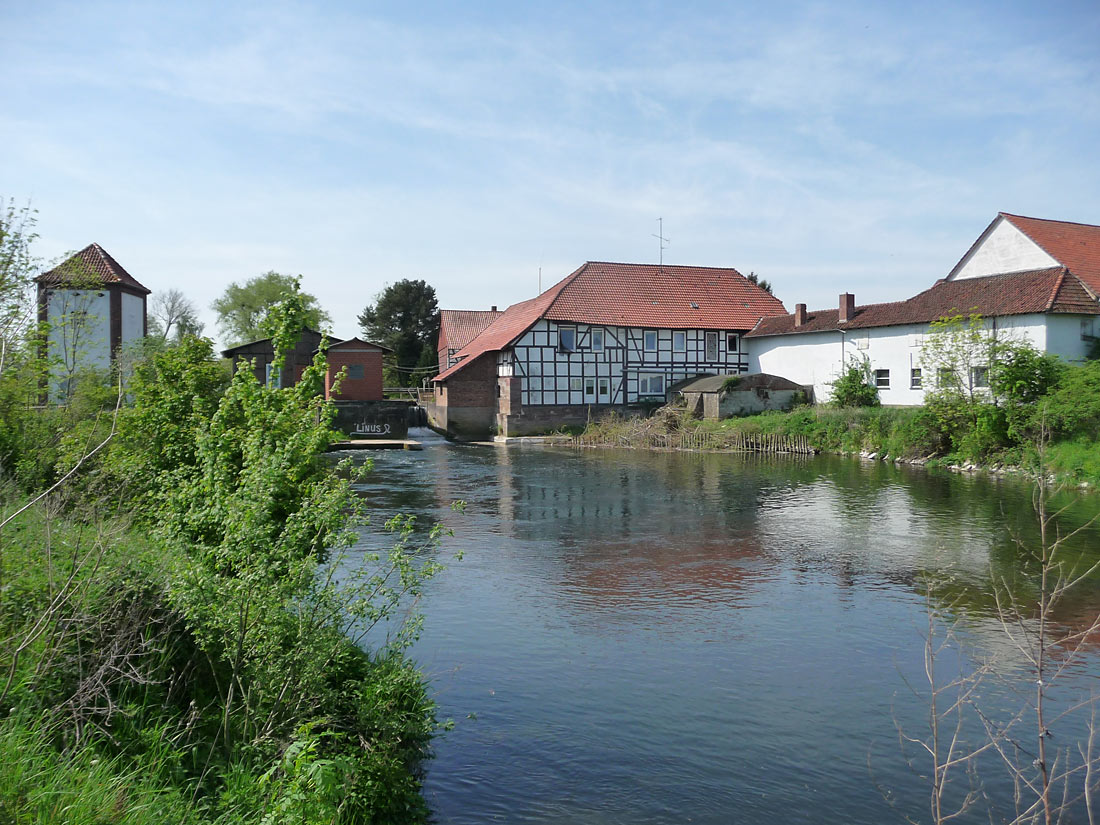 Großer Kolk unterhalb der Mühle